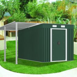 Garden Shed with Extended Roof
